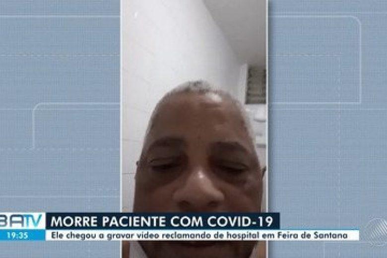 Print de vídeo enviado pelo paciente que morreu com covid